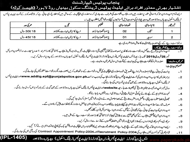 Punjab Police Department Jobs 2019 Latest