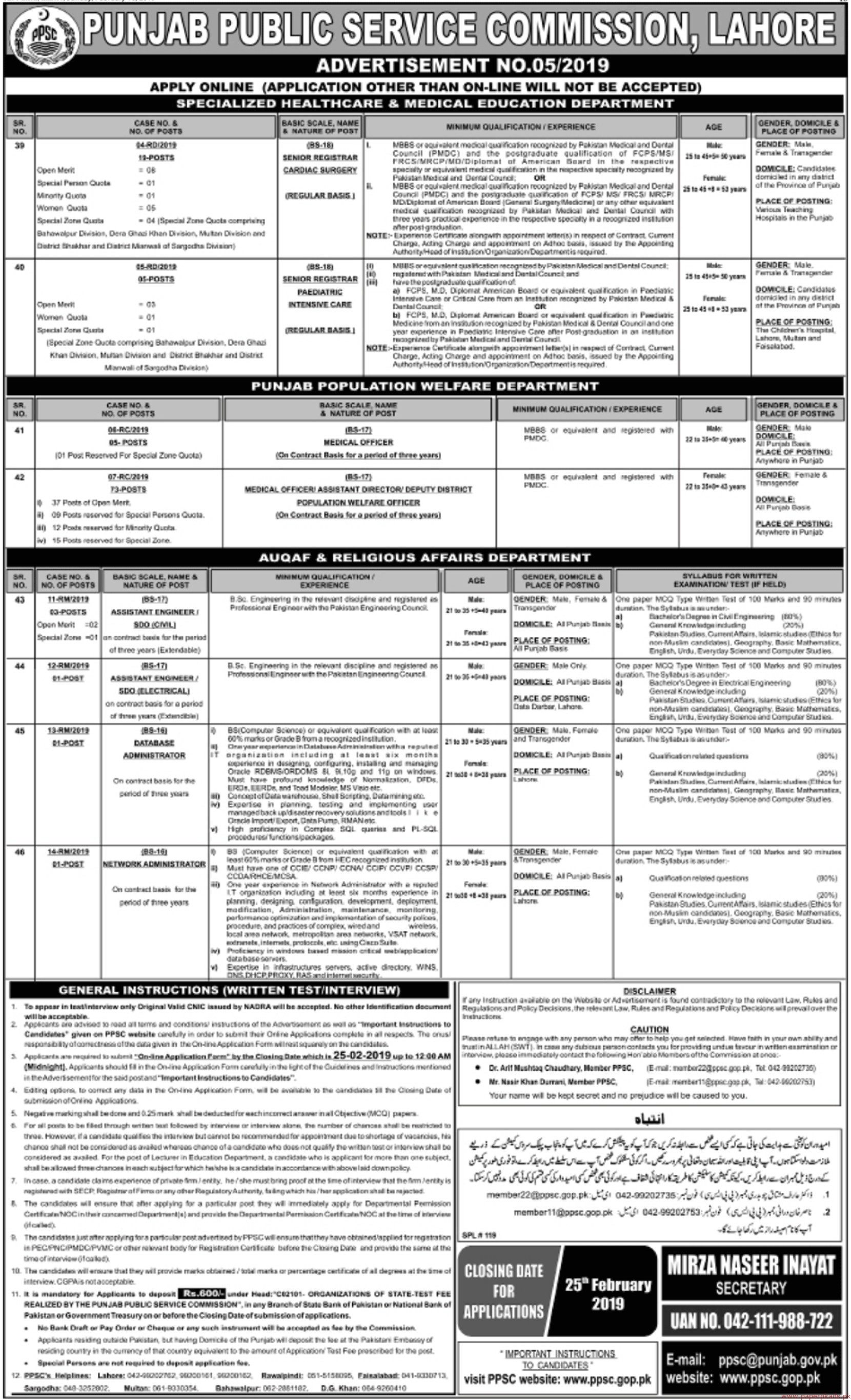 Punjab Public Service Commission (PPSC) Jobs 2019 Latest