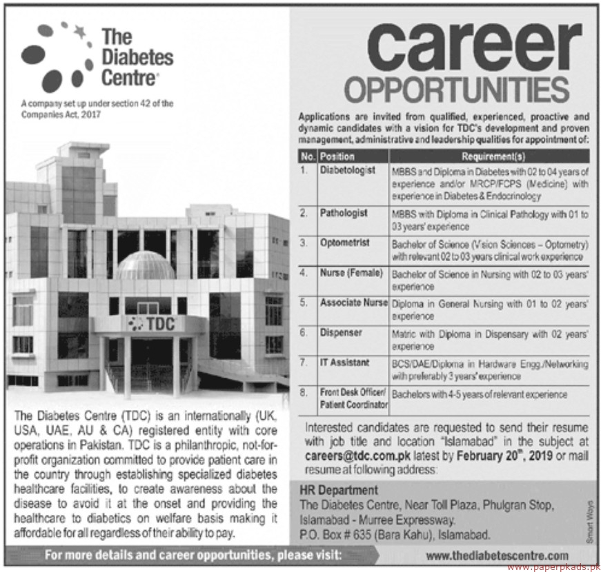 The Diabetes Centre Jobs 209 Latest