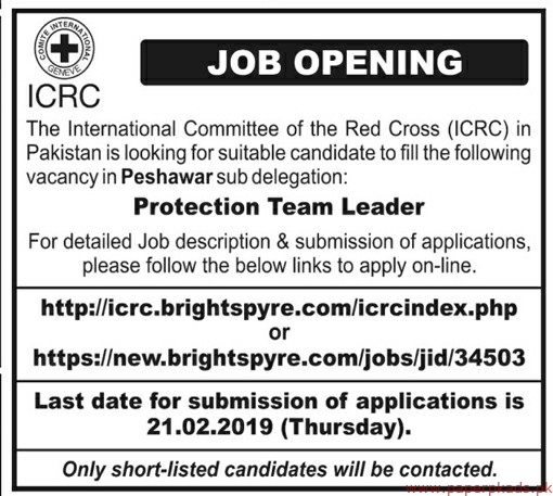The International Committee of the Red Cross (ICRC) Jobs 2019 Latest