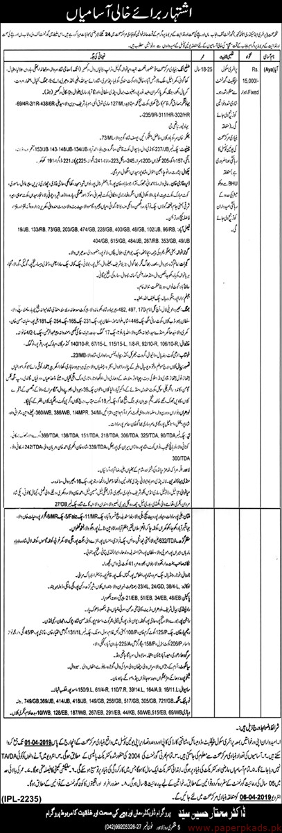 Elementary and Secondary Healthcare Department Jobs 2019 Latest