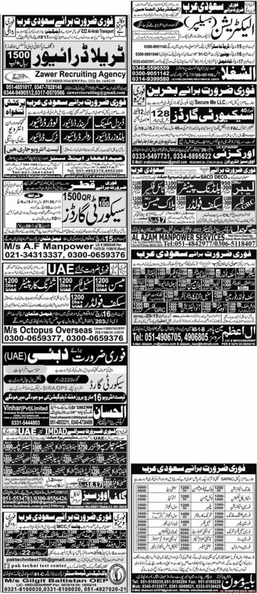 Express Newspaper Jobs Latest 15 March 2019