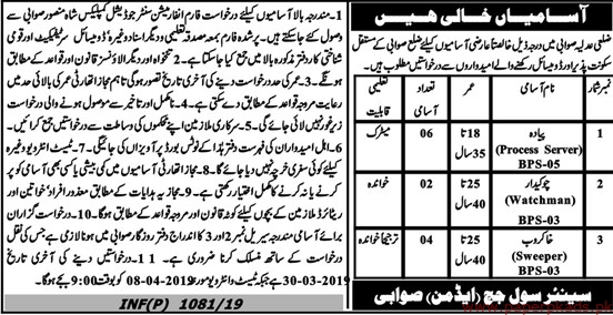 High Court Swabi Jobs 2019 Latest
