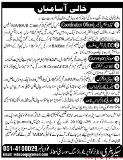 Housing Societies Limited Jobs 2019 Latest