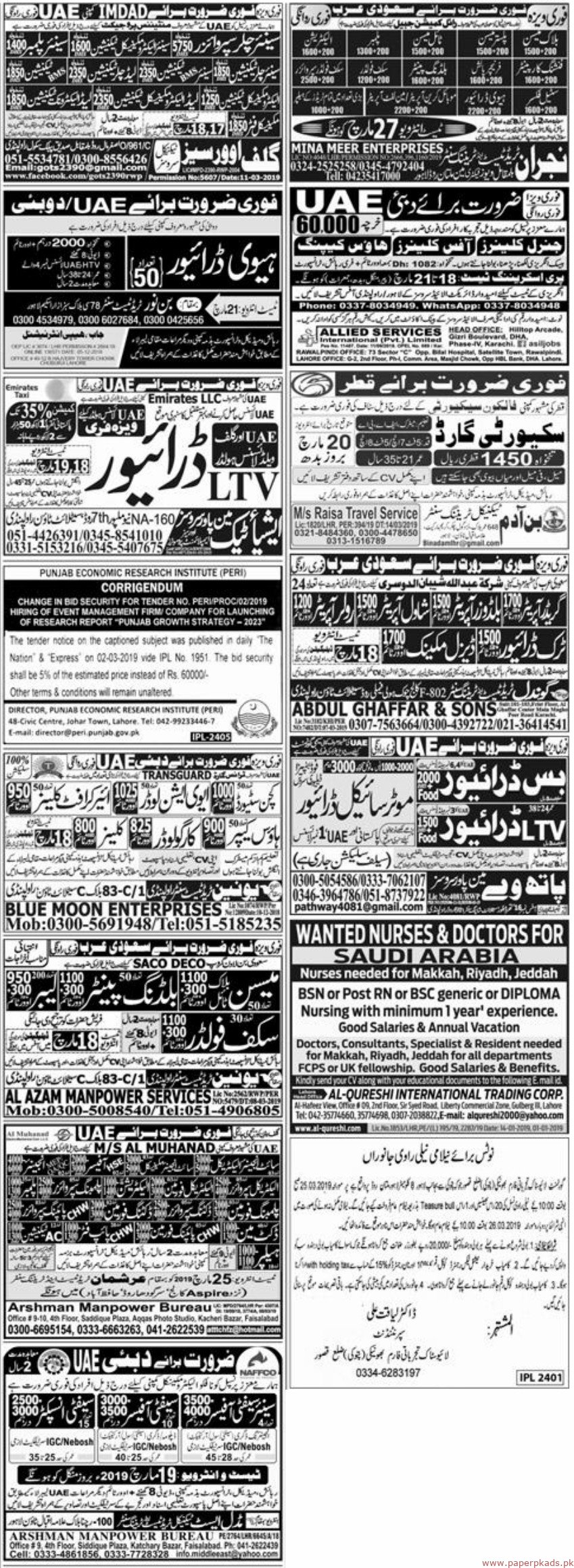 PaperPk Express Newspaper Jobs 17 March 2019 Latest