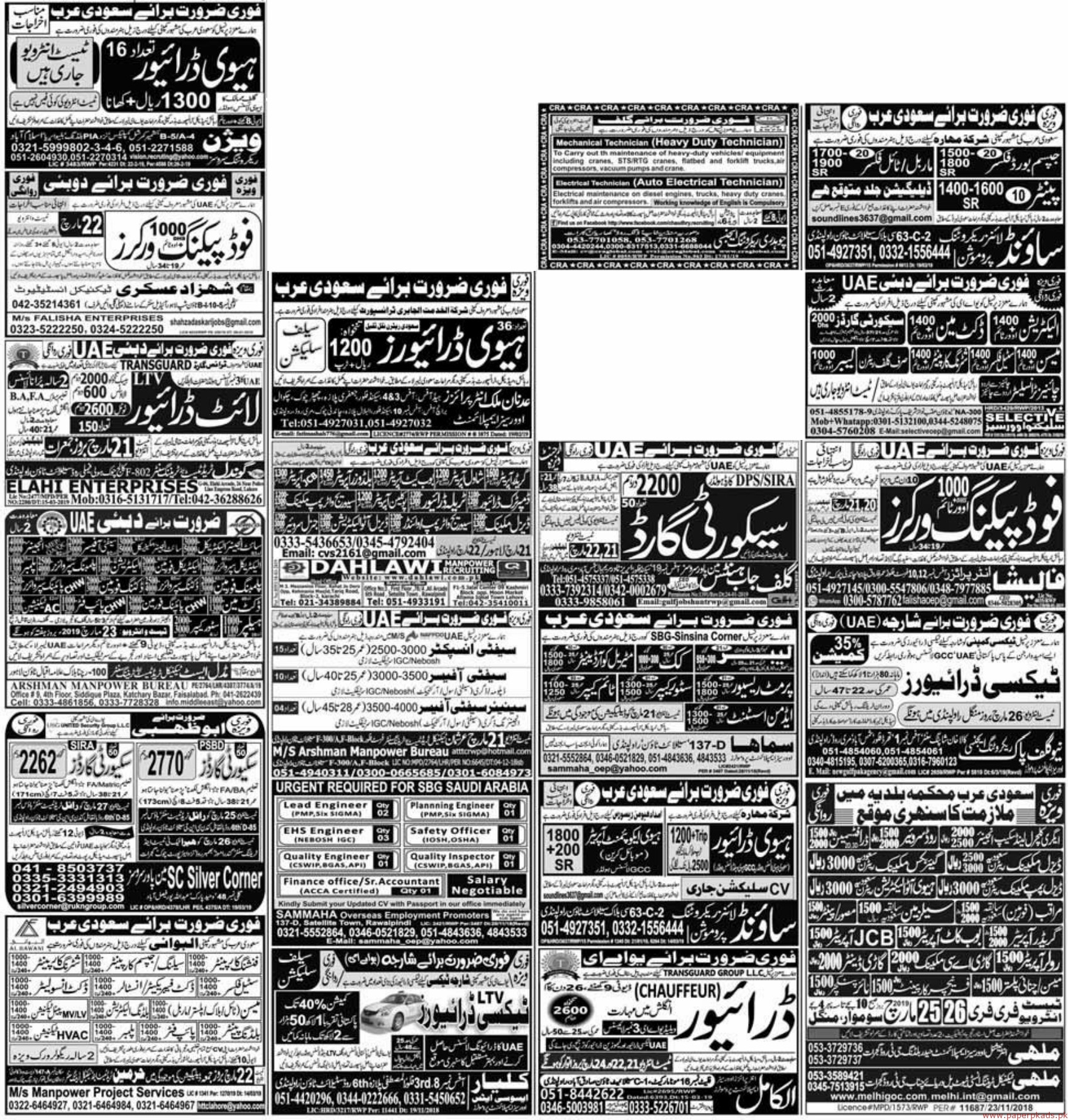 PaperPk Express Newspaper Jobs 20 March 2019