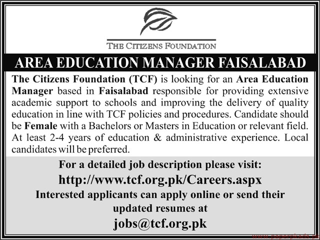 The Citizens Foundation Jobs 2019 Latest