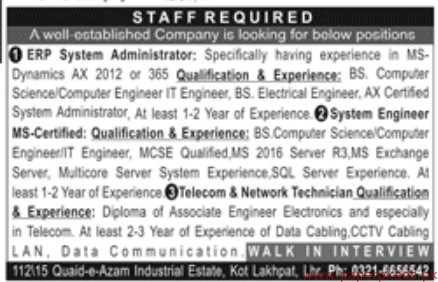 Well Established Company Jobs 2019 Latest
