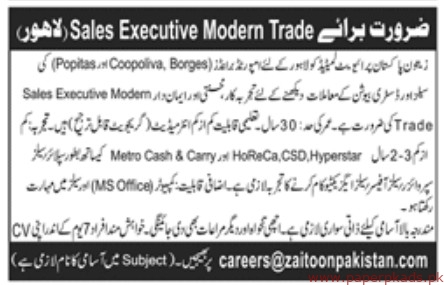 Zaitoon Pakistan Private Limited Latest Jobs 2019