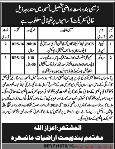 Government Department Jobs 2019 Latest