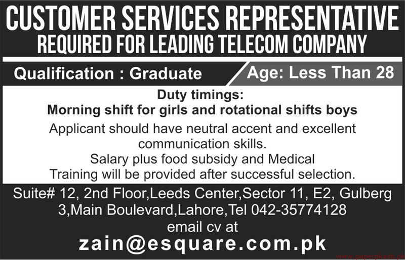 Leading Telecom Company Jobs 2019 Latest