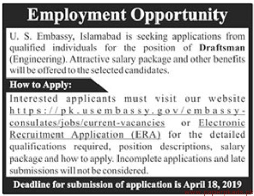 Us Embassy Islamabad Jobs 2019 Latest
