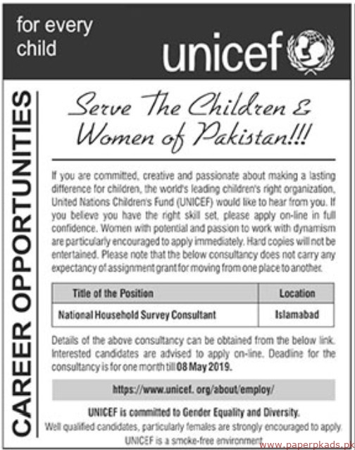 United Nations Childrens Fund Jobs 2019 Latest
