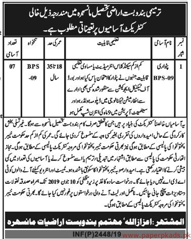 Government of KPK Jobs 2019 Latest