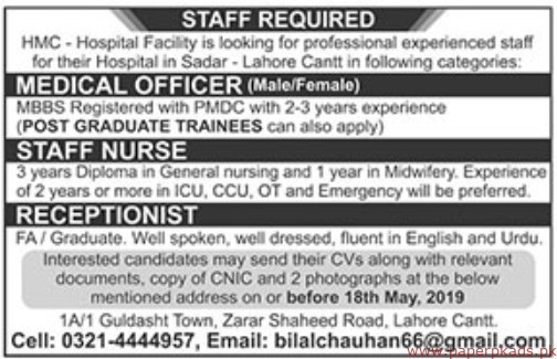 Hospital Jobs 2019 Latest