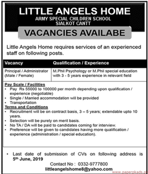 Little Angels Home Jobs 2019 latest