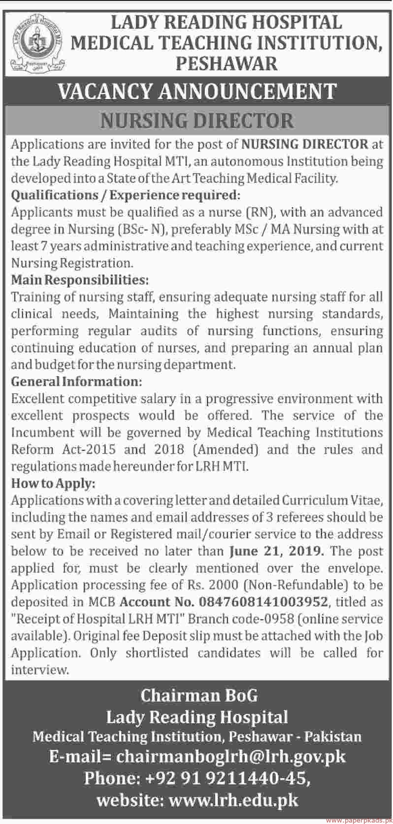 Medical Teaching Institution Jobs 2019 Latest