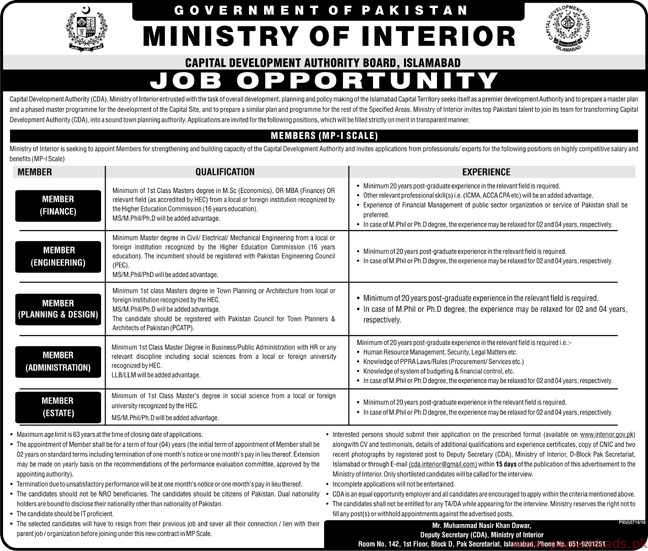 Ministry of Interior Jobs 2019 Latest