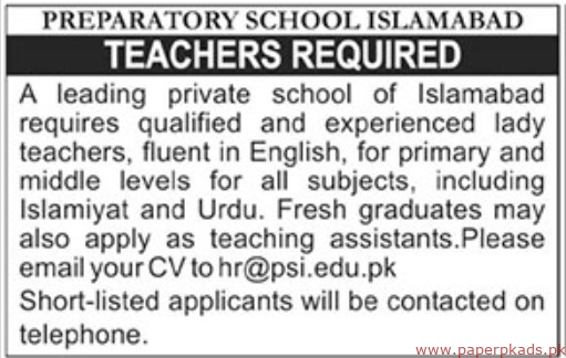 Preparatory School Jobs 2019 Latest