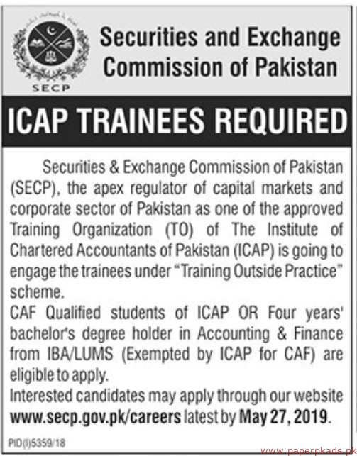 Securities and Exchange Commission of Pakistan Jobs 2019 Latest