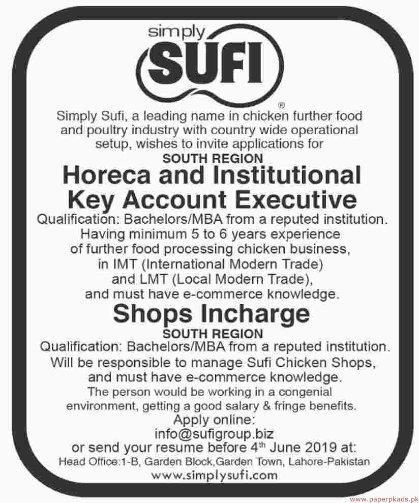 Simply Sufi Food and Poultry Industry Jobs 2019 Latest