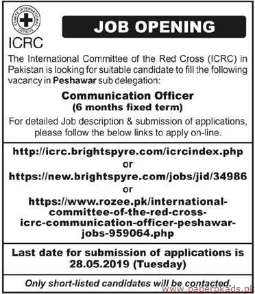 The International Committee of the Red Cross ICRC Jobs 2019 Latest
