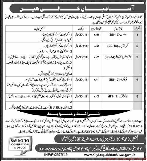 Agriculture Department Jobs 2019 Latest