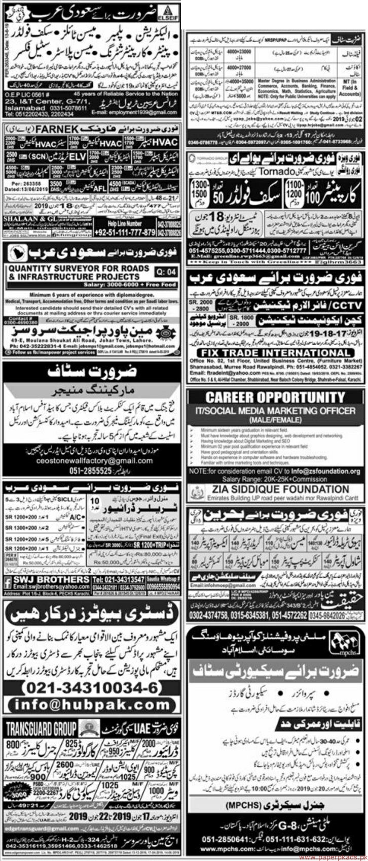 Express Newspaper Latest Jobs 16 June 2019