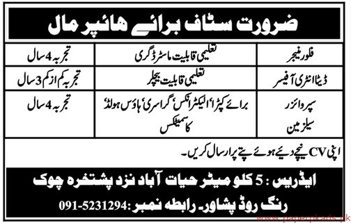 Hyper Mall Staff Required