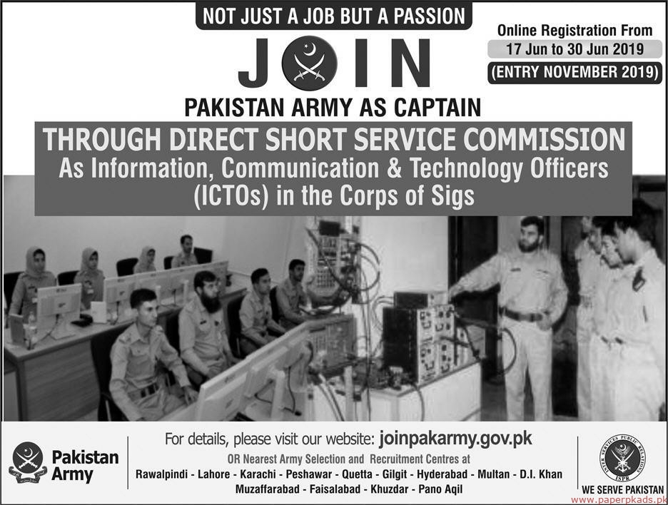 Join Pakistan Army Jobs 2019 Latest
