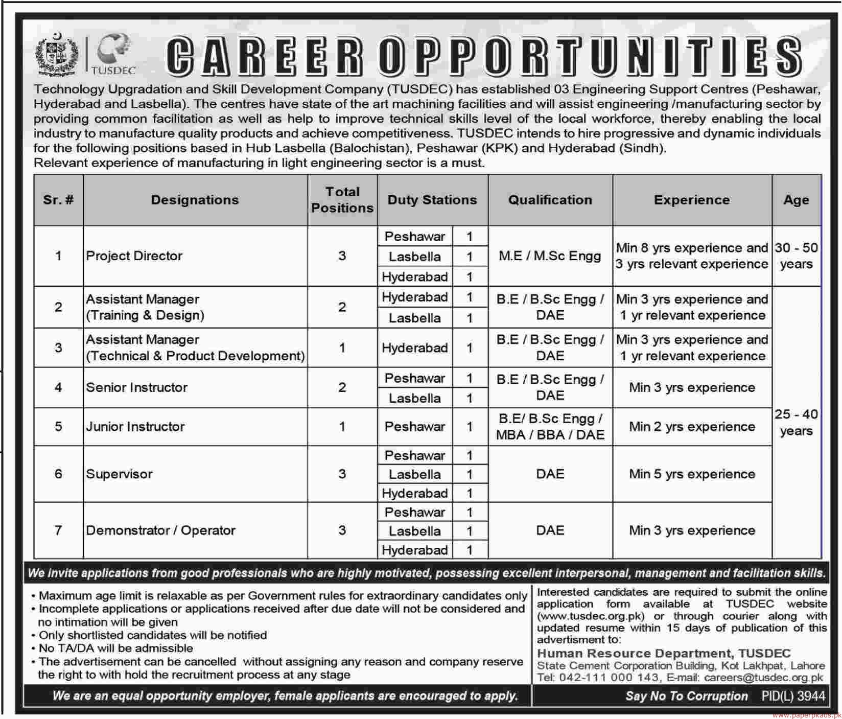 Technology Upgradation and Skill Development Company Jobs 2019 Latest