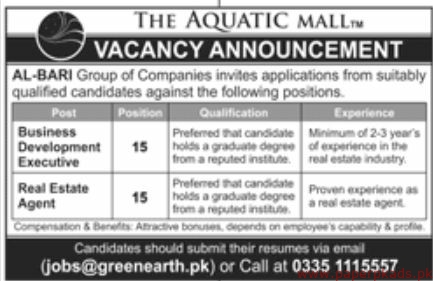 The Aquatic Mall Jobs 2019 Latest