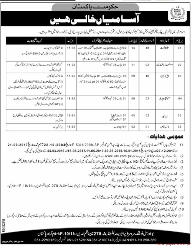 Government of Pakistan Public Sector Organization Latest Jobs 2019