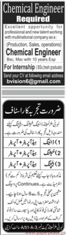 Jang Newspaper Latest Jobs 14 July 2019