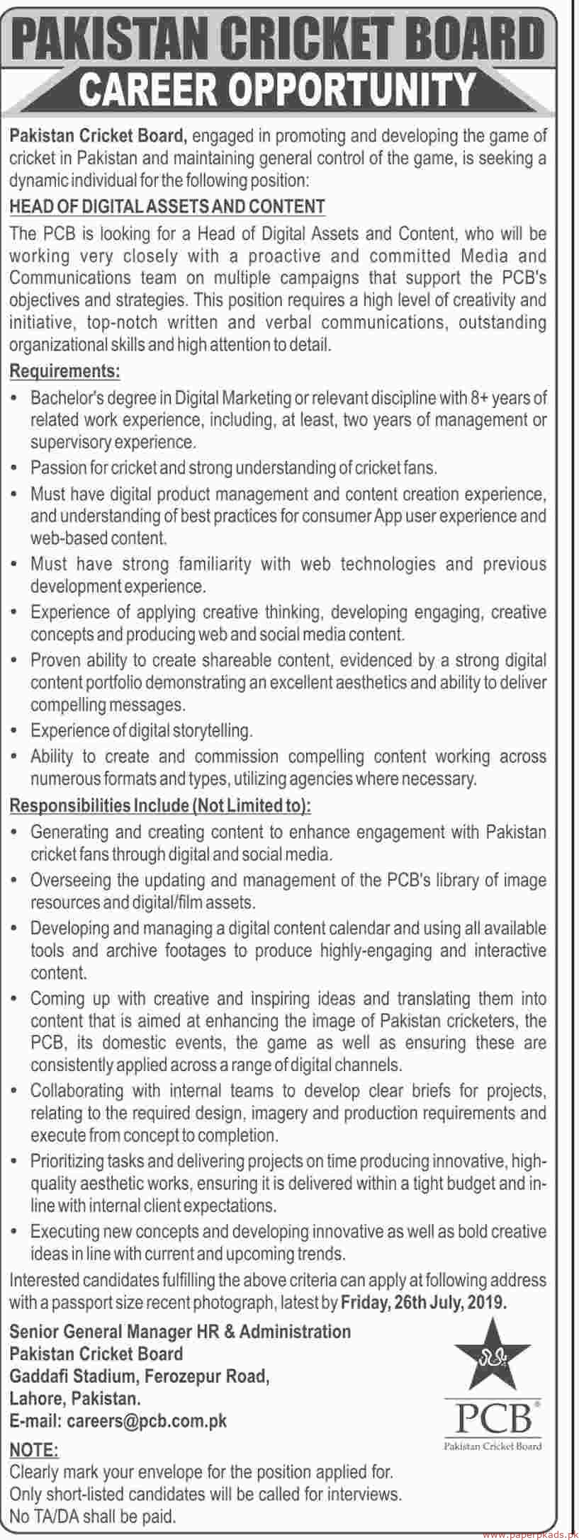 PCB Jobs 2019 Latest