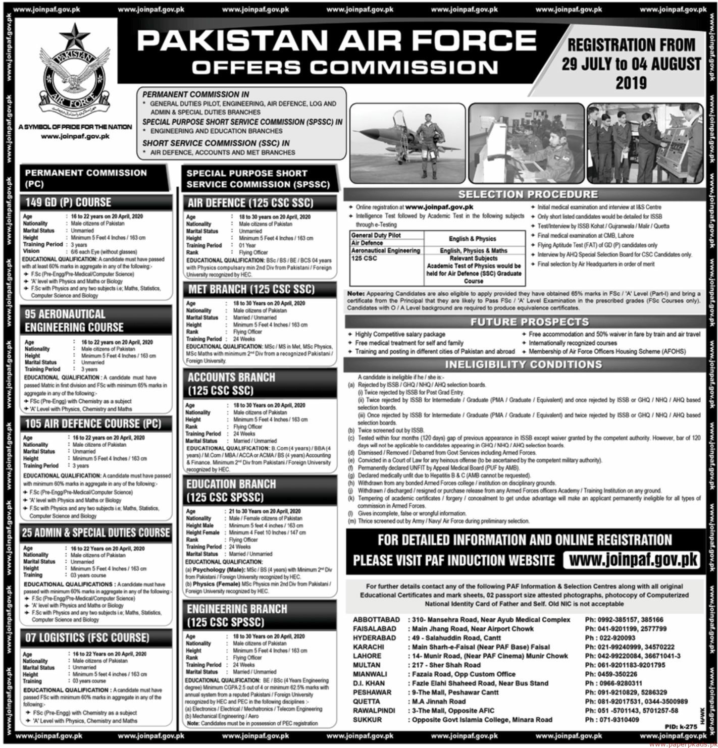 Pakistan Air Force PAF Jobs 2019 Latest
