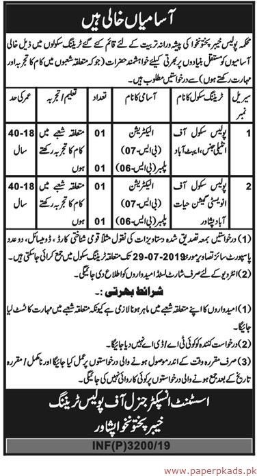 Police Department Jobs 2019 Latest