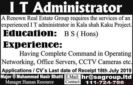 Real Estate Group Jobs 2019 Latest