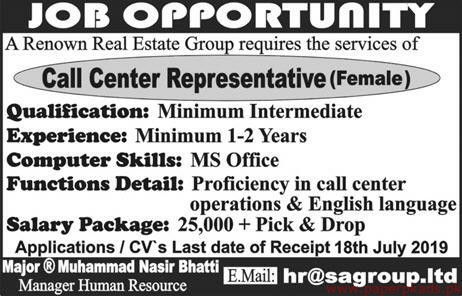 Real Estate Group Latest Jobs 2019
