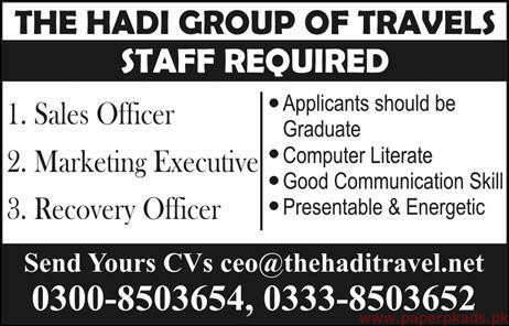 The Hadi Group of Travels Jobs 2019 Latest