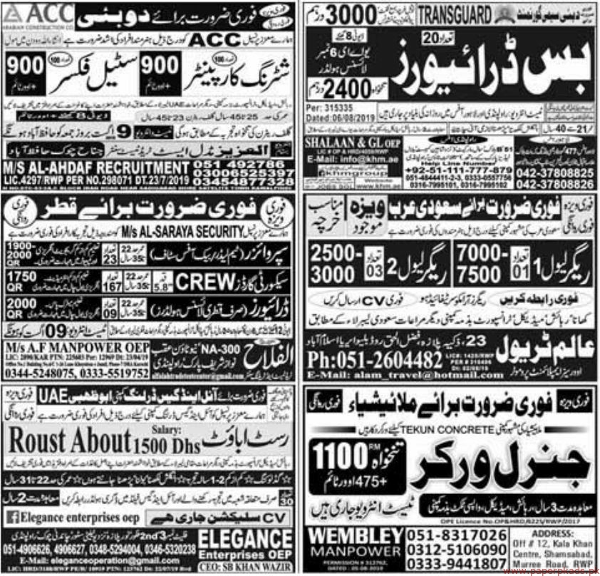 Express Newspaper Jobs 07 July 2019 Latest