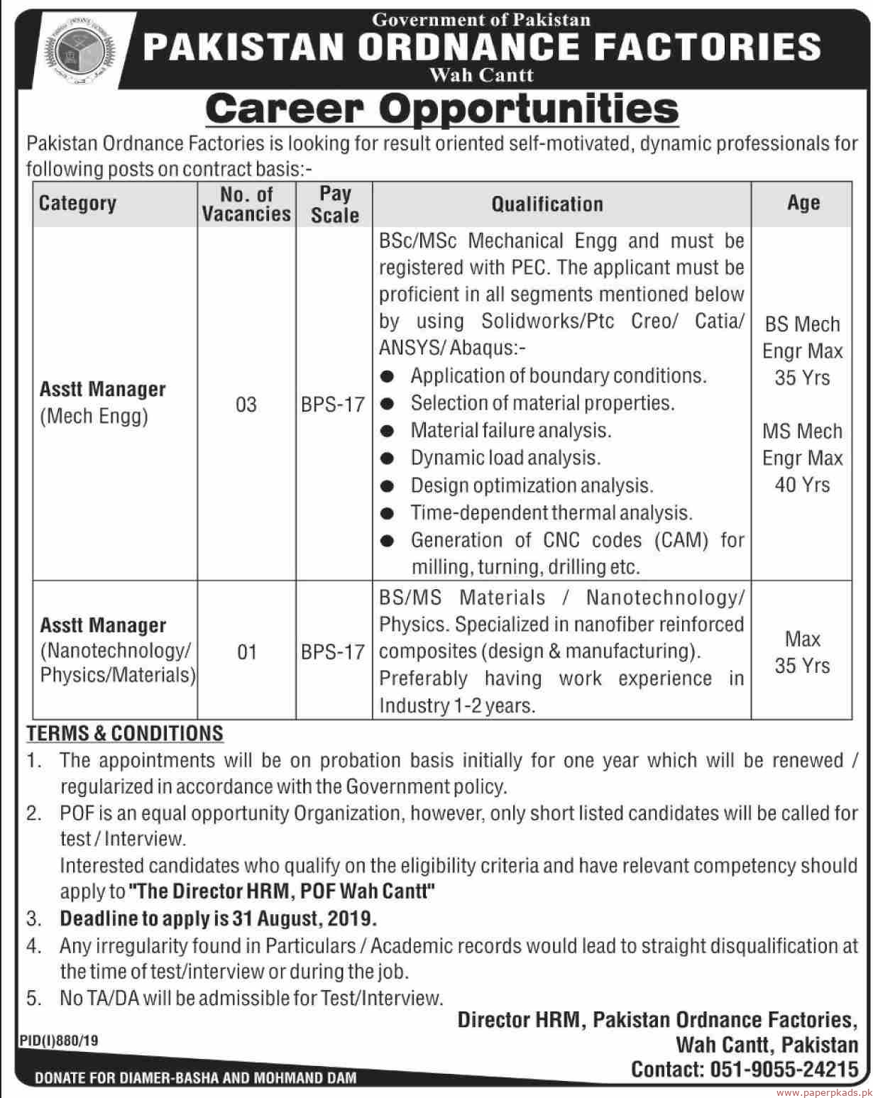 Government of Pakistan Jobs 2019 Latest