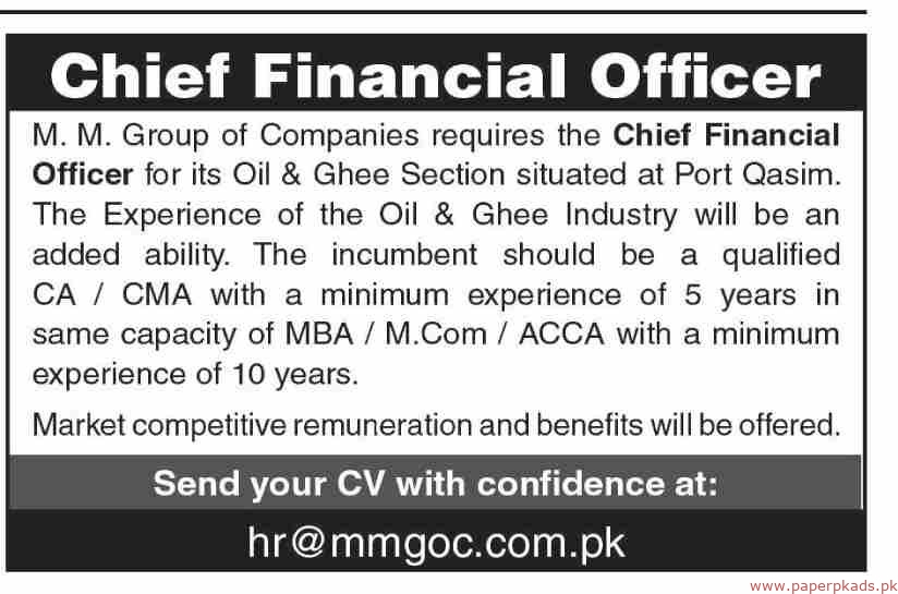 MM Group of Companies Jobs 2019 Latest