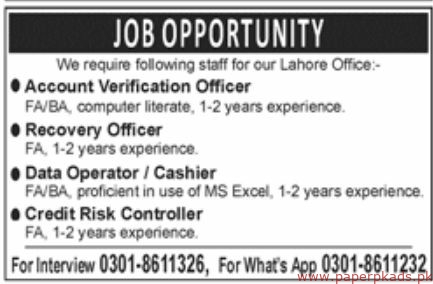 Office Staff Required