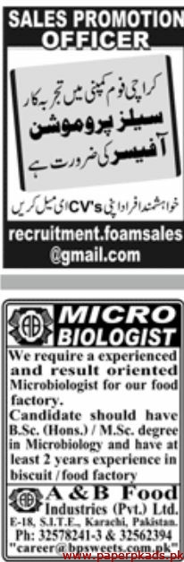 Jang Jobs Latest 29 September 2019