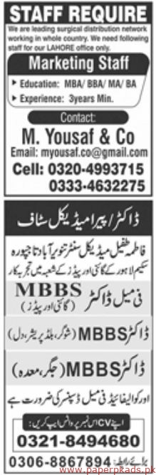 Jang Newspaper Jobs 08 September 2019 Latest