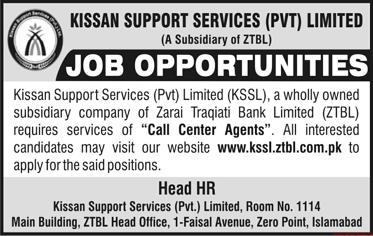 KISSAN Support Services Pvt Limited Jobs 2019 Latest