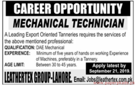 Leather Group Jobs 2019 Latest
