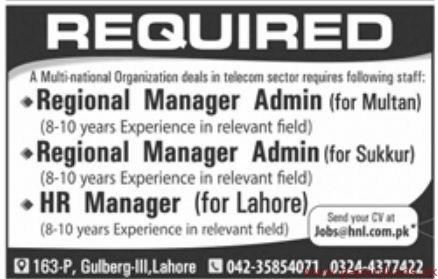Multi National Organization Jobs 2019 Latest