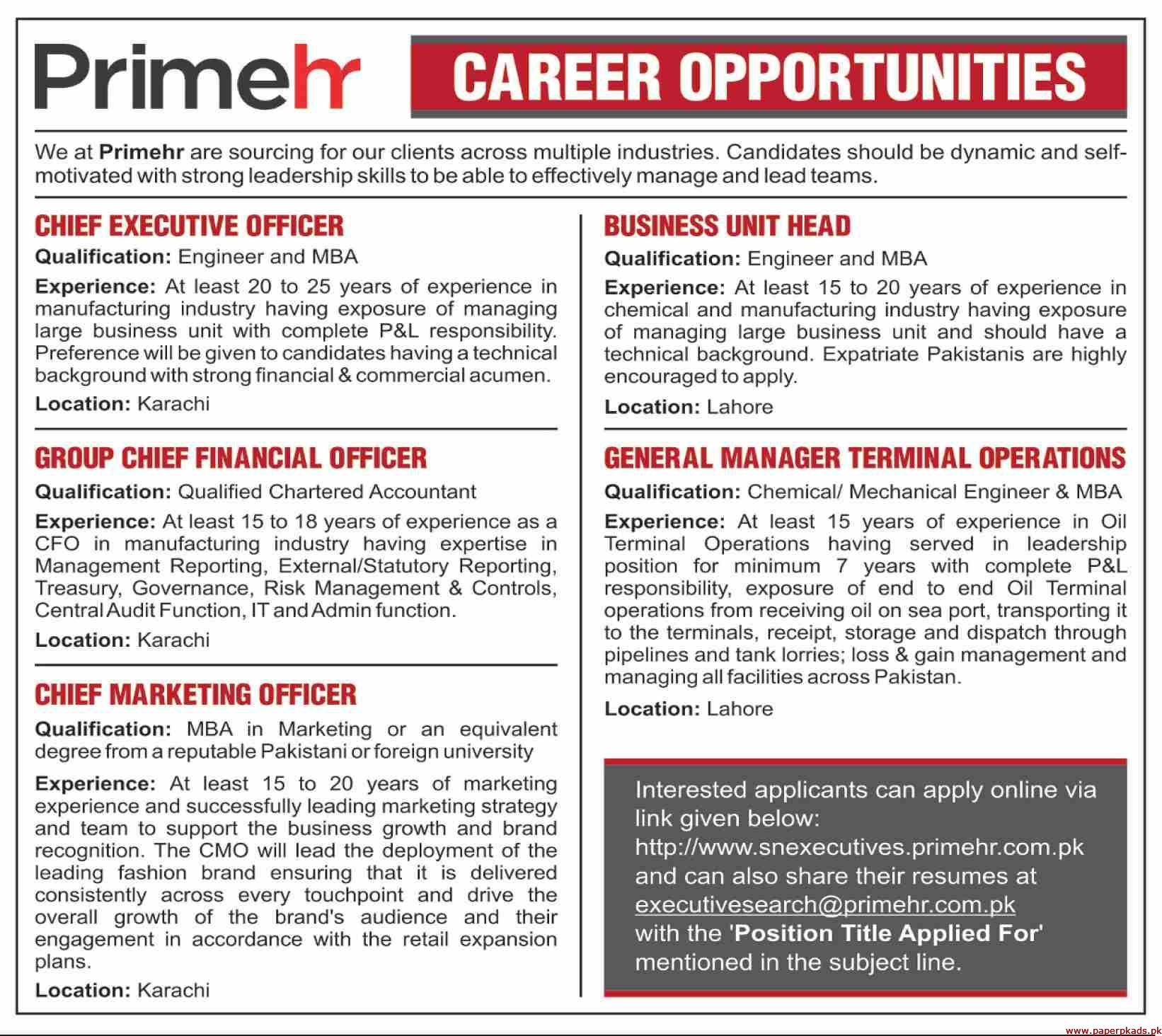 Primehr Jobs 2019 Latest